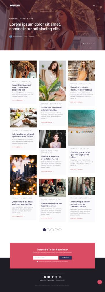 Personal - WordPress Theme for Personal Blogging from Mythemeshop