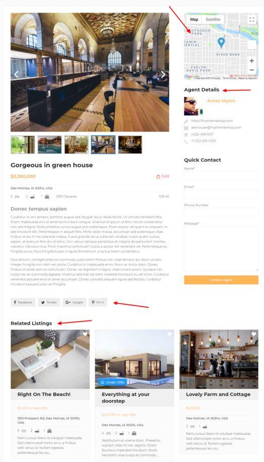 Single Property Listing Post - MyThemeShop Real Estate Plugin