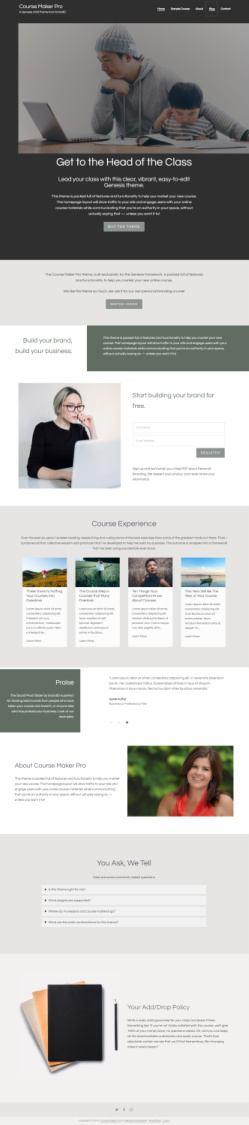 Course Maker Pro Theme - StudioPress