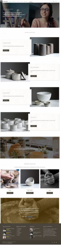 Artisan Organic Themes – WP Theme For Makers, Craftsmen, & Artists