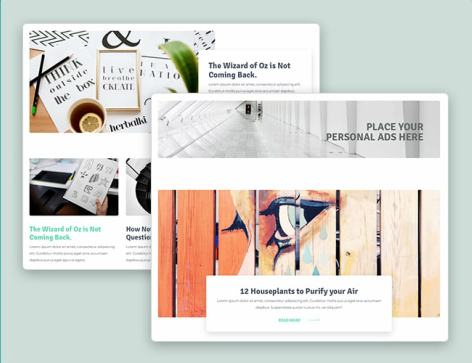 Blog Layouts - Designer WordPress Theme