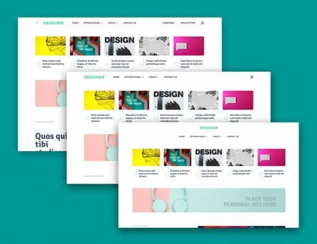 Designer Header - Custom Layouts