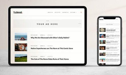 Fluid Responsive Blogging Theme - Tabloid