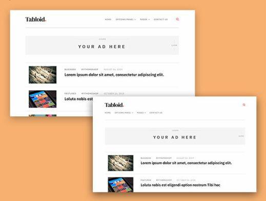 Header Layouts - Minimal Blog Theme