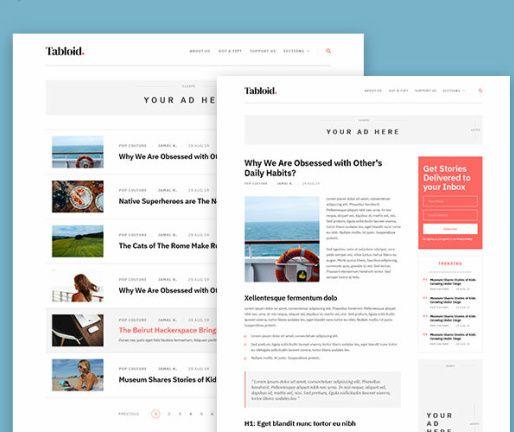 Homepage - Tabloid Theme