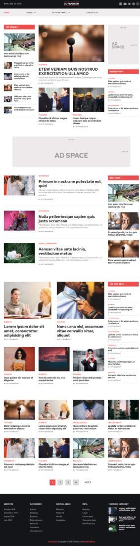 MyThemeShop Outspoken – Premium Magazine WordPress Theme