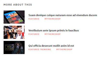 Related Blog Posts - MyThemeShop Magazine Theme
