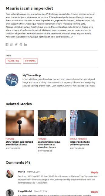 Single Blog Post Features - Outspoken