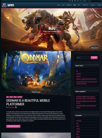 Blog - Games WordPress Theme