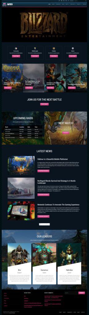 Gamer by Organic Themes – Best Gaming WordPress Theme