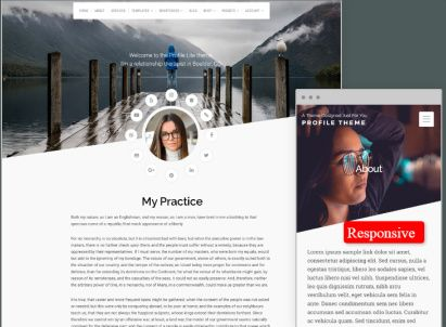 Responsive CV Template - Organic Themes