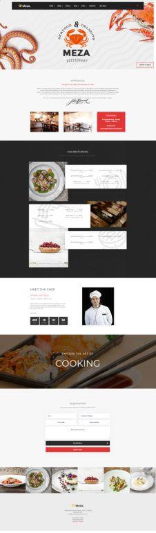 Meza Organized Themes – Restaurant WordPress Theme