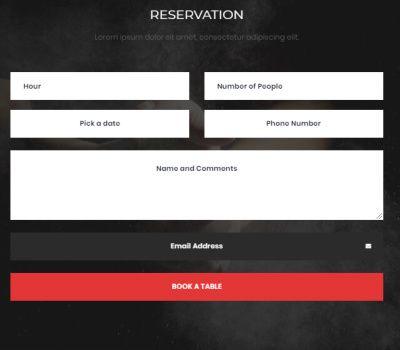 Reservation - Meza WordPress Theme