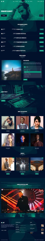 Beat CSSIgniter Demo - Responsive Music WordPress Theme