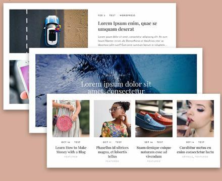 Blog Layouts - Daily WordPress Theme