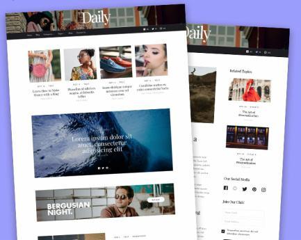 Blog Magazine Style Homepage - MyThemeShop Daily