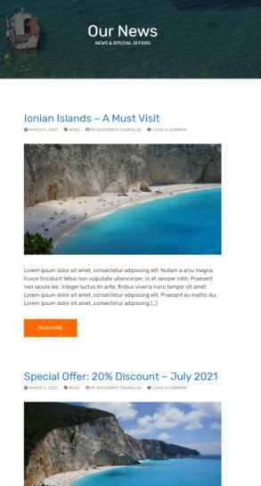 Lefkada - Blog Options