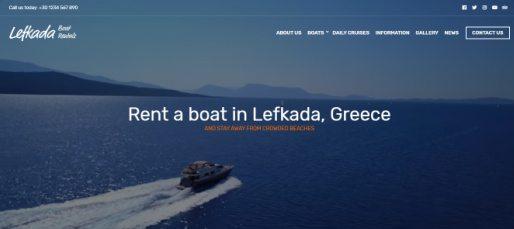 Lefkada Hero Video Section