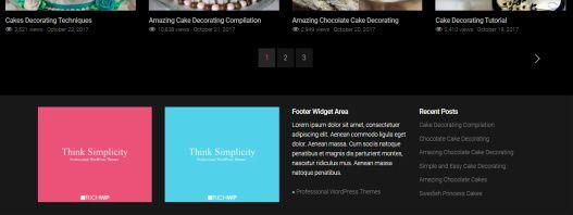 Footer Widgets - Rich Flicks Video Template