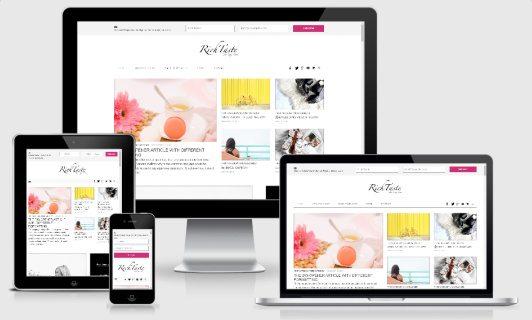 Responsive Blog Theme - Rich Taste