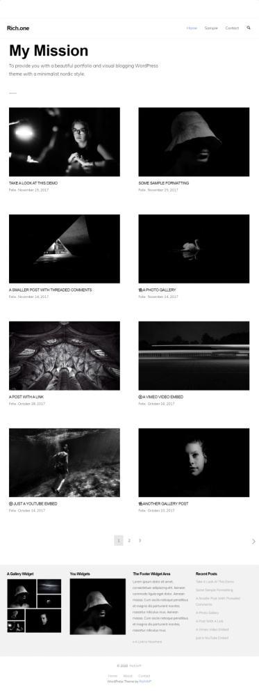RichOne RichWP - Portfolio Gallery Blogging Theme