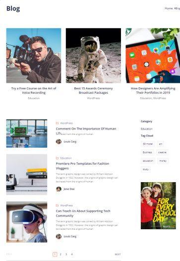 Blog Page - Skillate Theme