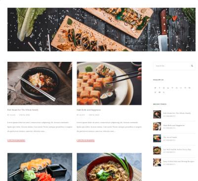 DinePress Blog Layouts