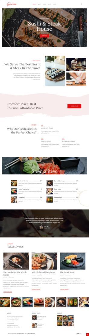 DinePress Pro Demo - HappyThemes Restaurant WordPress Theme