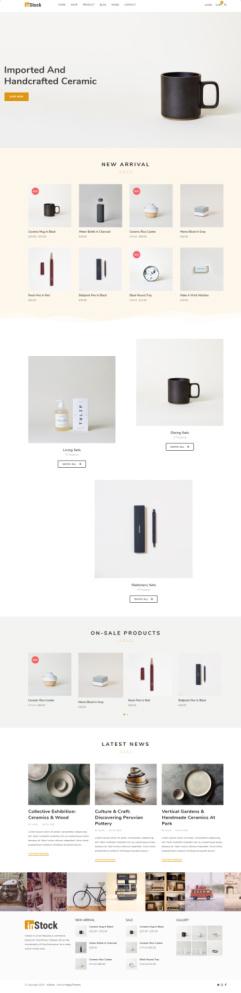Instock Homepage - E-Commerce Theme