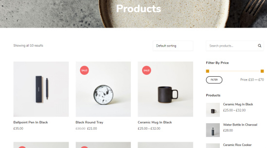Instock WooCommerce Shop Page