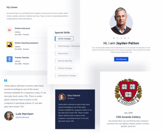 Instructor Profile Section - Docent Pro Theme