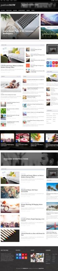 PublishNow Demo - WordPress Blog Magazine Theme - HappyThemes