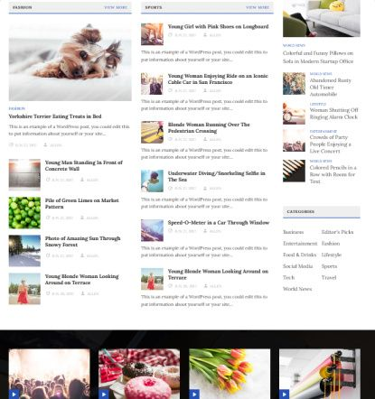 PublishNow Frontpage Featured Blocks