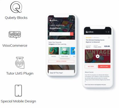 Responsive - Plugins Support Qubely WooCommerce