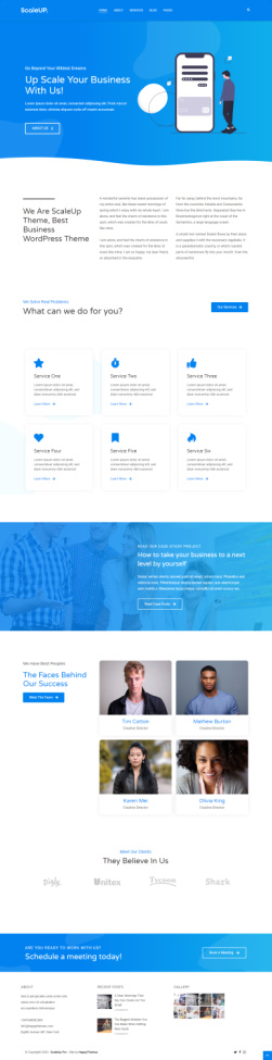 ScaleUp Pro Demo - WordPress Business Theme - HappyThemes
