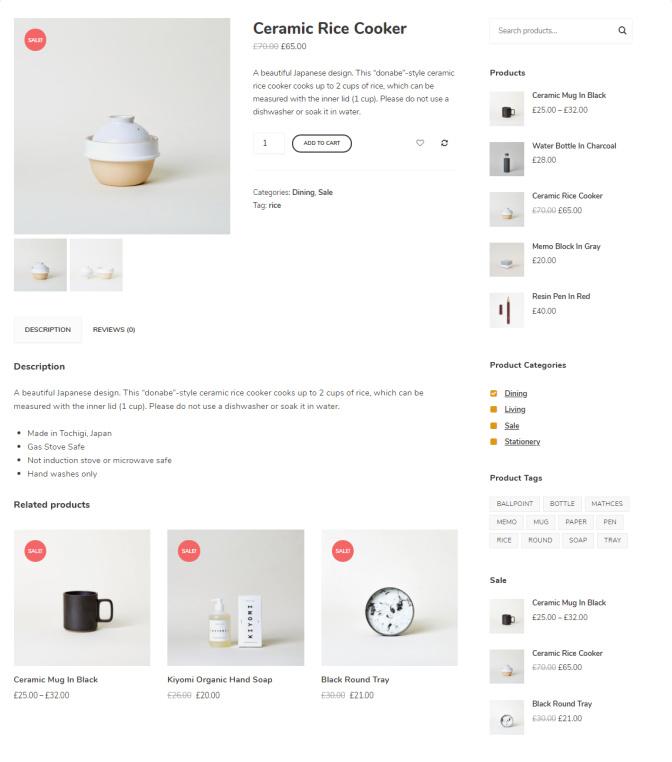 Single Product - Instock WordPress Theme