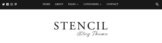 Stencil Header - Blog Theme