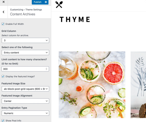 Custom Categories - Thyme