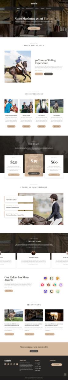 Saddle Demo Mythemeshop - Horse Riding Training School WordPress Theme