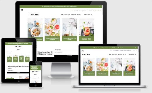 Thyme Responsive Food Blog Theme