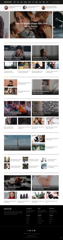 Anther demo - Magazine and Blog Theme - DesignOrbital