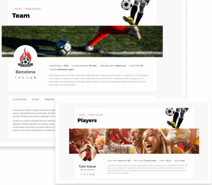 calcio-Club & Player Profiles