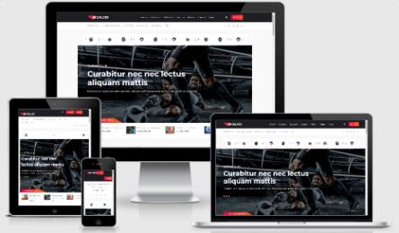 calcio Resposnvie sports blogging theme