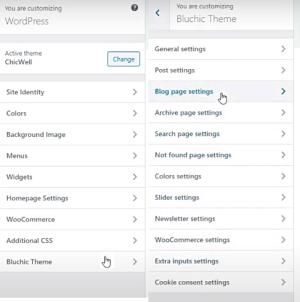 Cutomizer Bluchic Options
