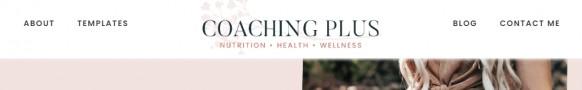 Coaching Plus Header Menu Bar