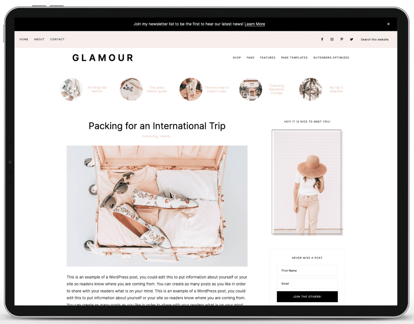 Glamour-Related Posts for WP plugin