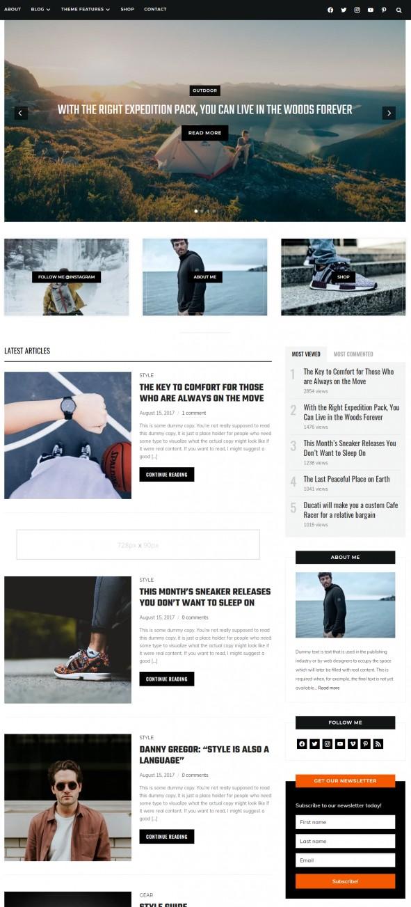 Indigo Demo - WPZOOM Blog Magazine Theme