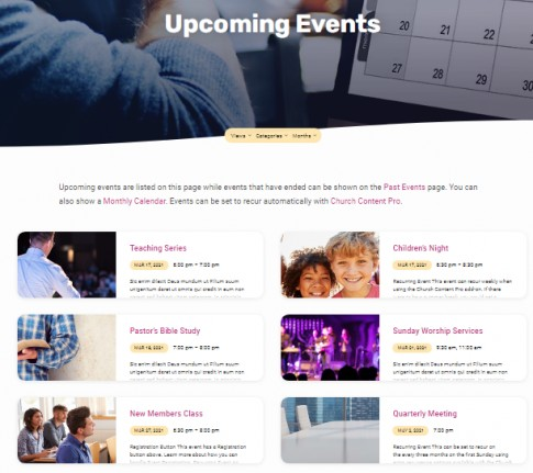 Jubilee Upcoming Events - Calendar