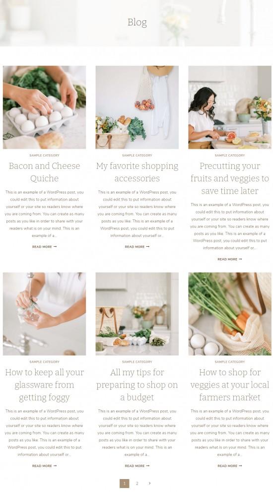 Sage - Blog Layout