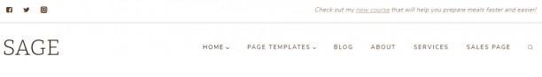 Sage Header Options - Blog Theme